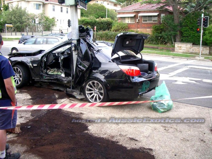 Image: BMW M5 crash in Sydney