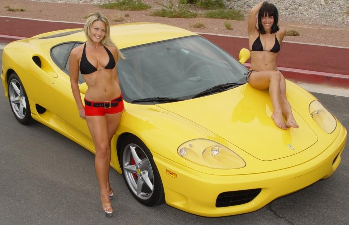 Hot girls Ferrari 360