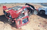 Crash   Public: Ferrari F40 Cannonball Crash in NT