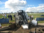 Crash   Public: Porsche Turbo Crash at Winton - front view on side