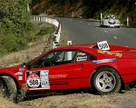 Crash   Public: Ferrari 308 GTB  Crash - Targa Tasmania 2008