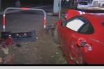 Crash   Public: Ferrari Challenge Stradale Crash in Melbourne