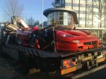 Wrecked   Public: Ferrari F50 Crash - Holland