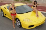 Girl   Public: Ferrari 360 Modena with hot girls