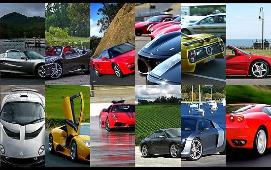 2009 Calendar Ferrari Lamborghini Porsche Lotus NSX TVR Maserati Audi R8 Pagani Zonda