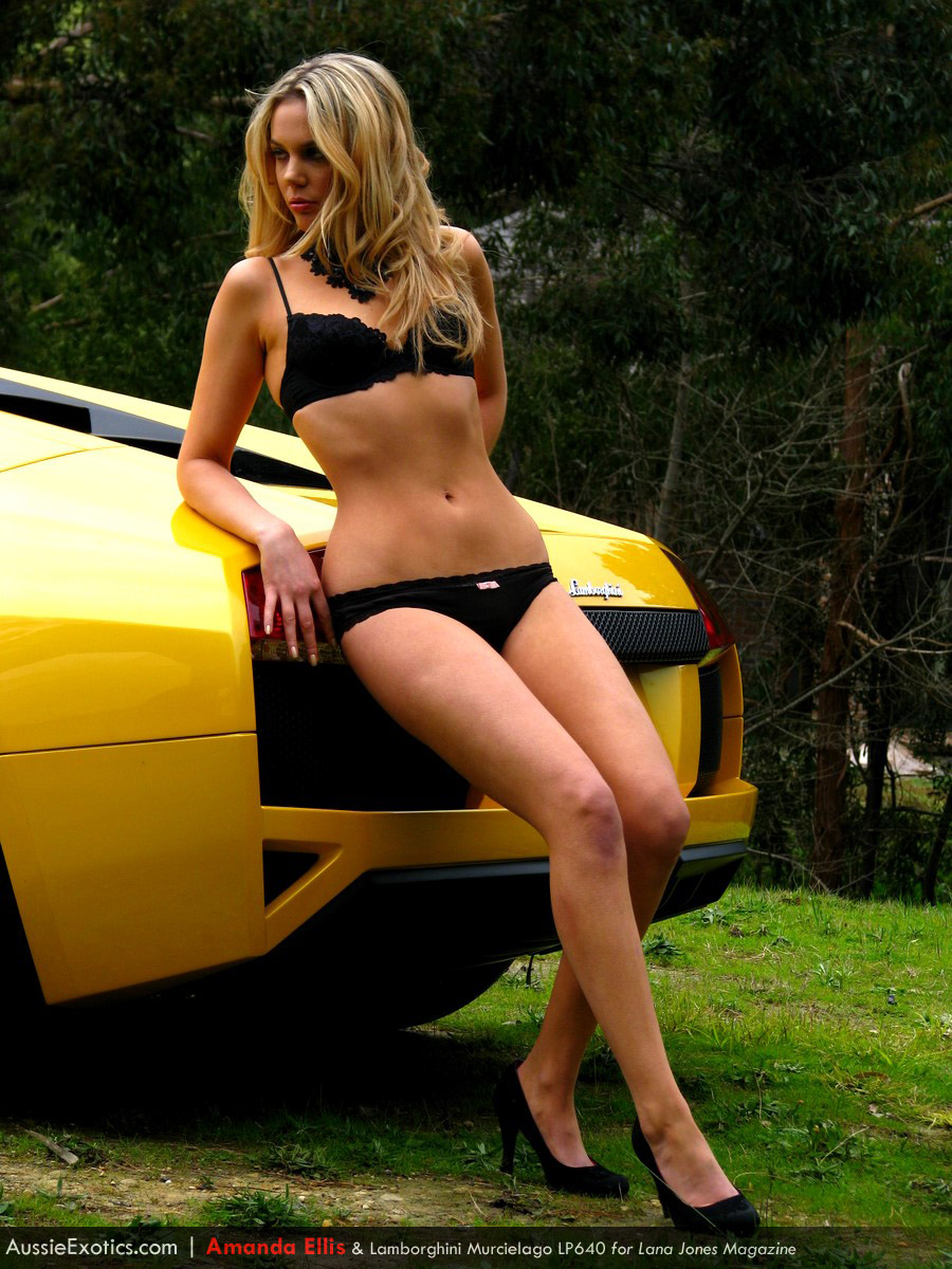 Amanda Ellis and Lamborghini Murcielago LP640 Photoshoot ...