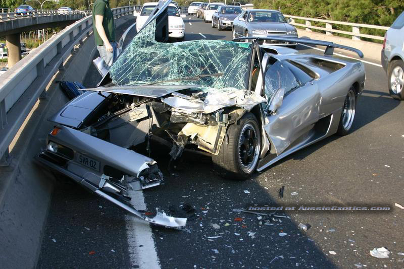 Lamborghini Diablo Crash In Sydney Sports Amp Prestige