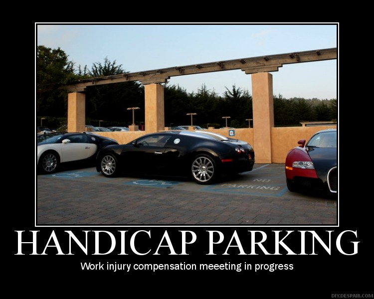 bugatti veyron handicap parking demotivational poster